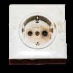 uitgebrand stopcontact